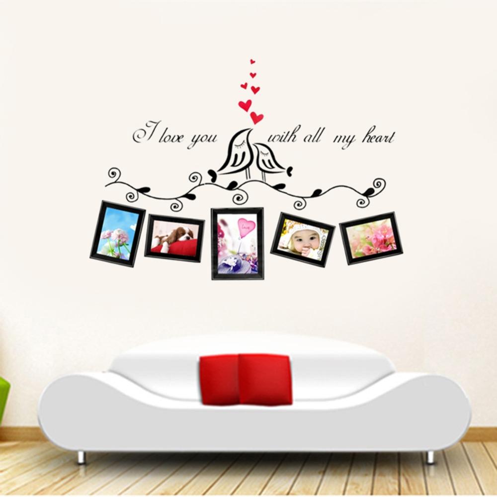 dlove pjaros foto extrable vinilo del arte etiqueta de la pared decal mural habitacin de