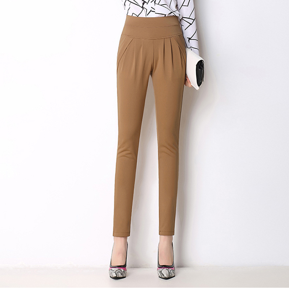Summer Autumn Women OL Candy Color Harem   Pants     Capris   Breathable Thin Casual Pencil   Pants   Trousers Large Size 6XL Stretch   Pants