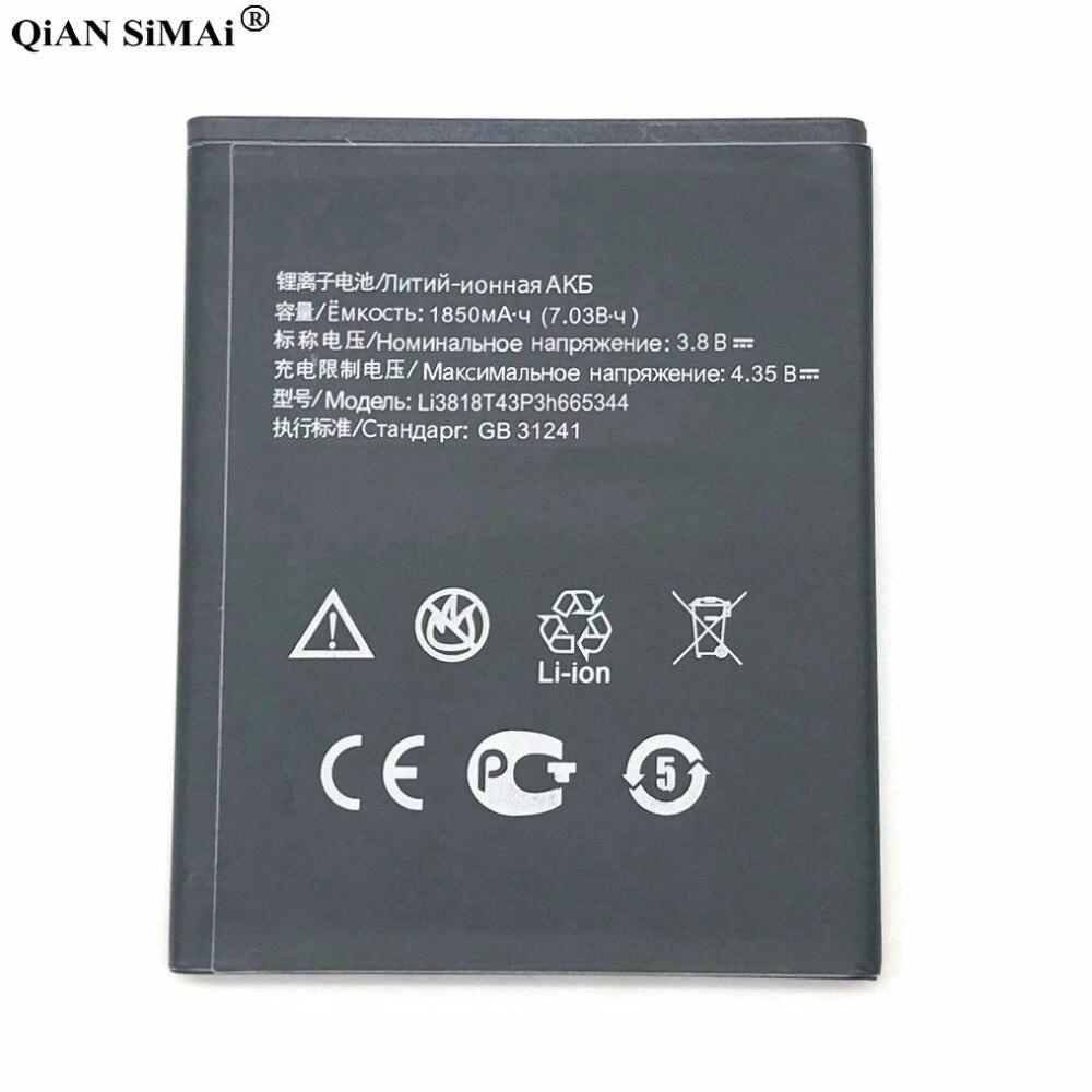 Neue Hohe Qualität Li3818T43P3h665344 1850 mAh batterie Für ZTE Blade GF3 T320 TWM ERSTAUNLICHE A5S telefon