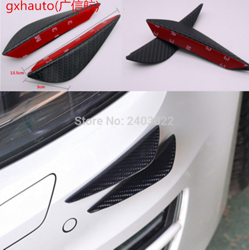 LMST Car Bumper Protector Universal Front Bumper Lip Fins Canards Splitters Body Diffuser