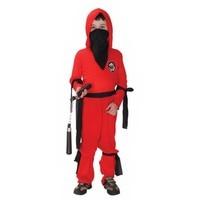 New Red Ninja Kids Child Halloween Costume Boy S Fancy Cosplay Party Dress Up Children S
