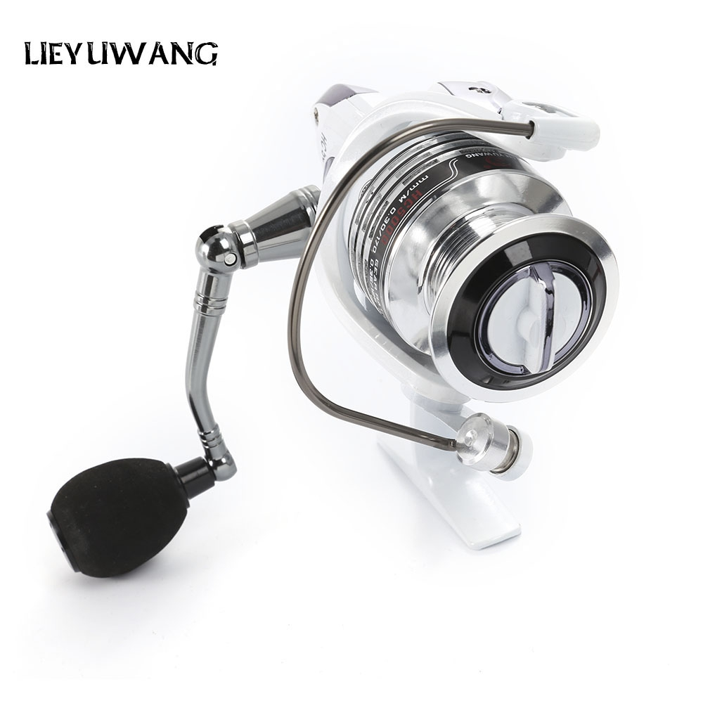 LIEYUWANG 13 + 1BB Gear Ratio Up to 5.2:1 Spinning Fishing Reel with Exchangeable Handle Automatic folding for Casting Line
