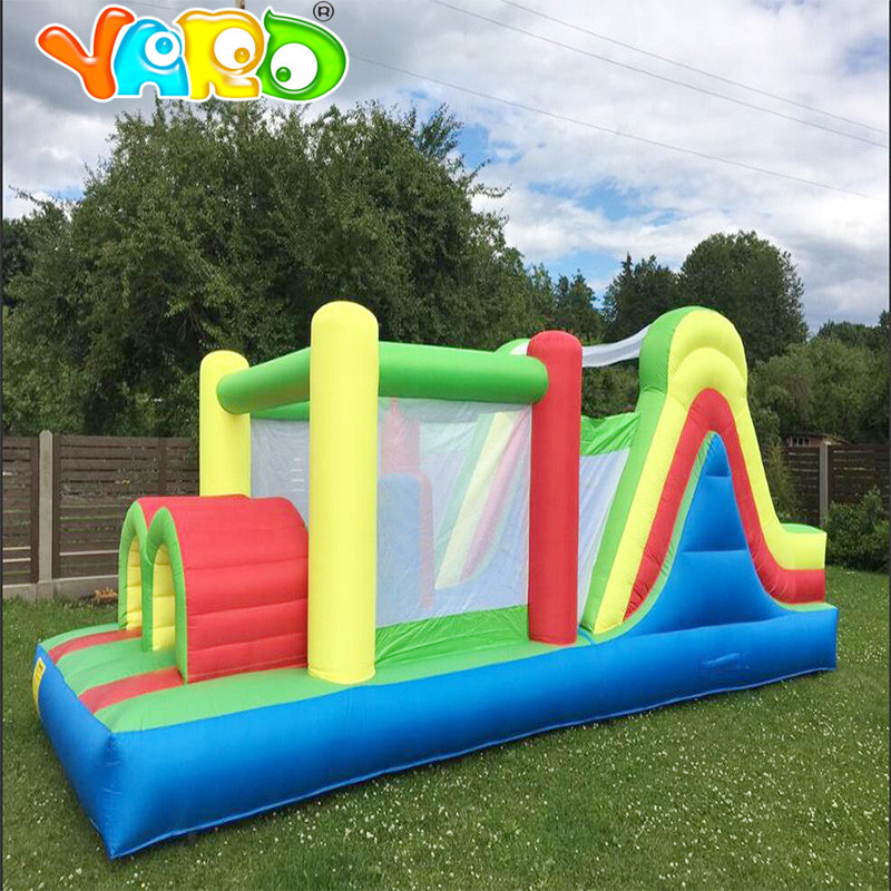 YARD Jumping Castle for Kids PVC Inflatable trampoline Bounce House jumping castle inflatable Bouncer Bouncy Castle with blower yard residential inflatable bounce house combo slide bouncy with ball pool for kids amusement