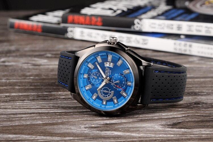 Fashion Chronograph Sport Mens Watches Top Brand Luxury Military Quartz Watch Clock Relogio Masculino mens watches top brand luxury jedir quartz watch chronograph luminous clock men military sport wristwatch relogio masculino