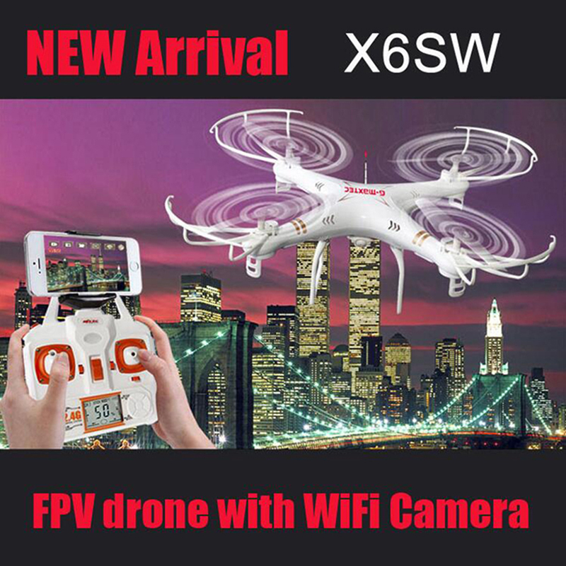 New Quadcopter X6SW Drohne Drone With Camer HD Helicopter Dron 4 Channels Aviao Wireless Drones HD WiFi Camera Mini Drone Racer