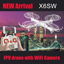 New x6sw Camera Drones Aerial Photography 4 Channels Wireless Drones With Camera HD WiFi Camera Mini Drone Racer Phantom