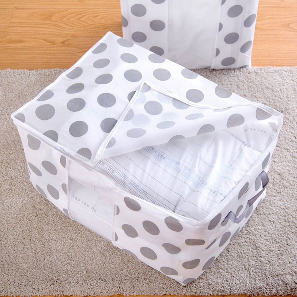 Foldable Storage Bag Clothes Blanket Quilt Closet Sweater Organizer Box Pouche A Non-woven Fabric Portable Bag Holder Organizer