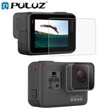 PULUZ закаленное стекло для GoPro HERO 7 объектив HD экран протектор+ ЖК-дисплей Закаленное стекло пленка для GoPro Hero