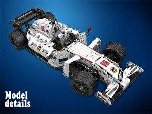 Image 3 - Moc f1 racing rc carro de controle remoto 2.4ghz técnica com caixa motor 729 pçs blocos de construção tijolo criador brinquedos para crianças presentes
