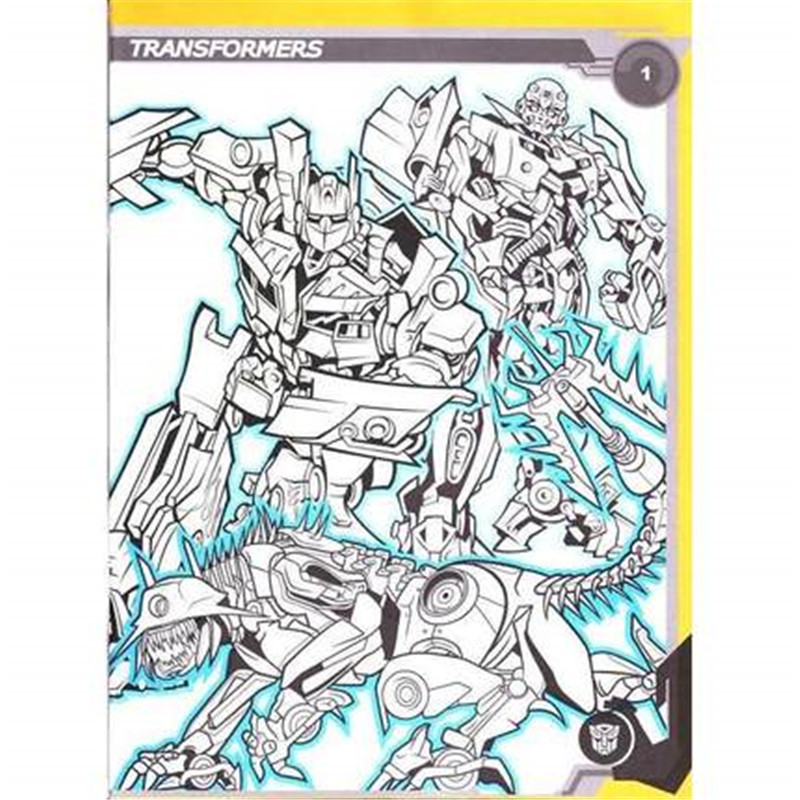transformers coloring book secret garden style coloring book for relieve stress kill time graffiti painting drawing book in books from office school - Transformers Coloring Book
