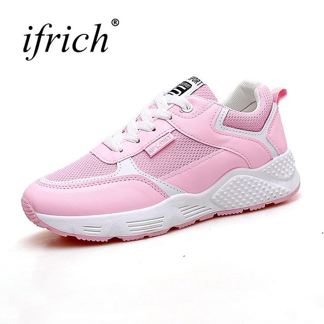 8b5739ae43d25 Women Sport Shoes 2018 Spring Summer Women s Best Running Shoes Lace Up  Womens Jogging Trainers Lightweight Female Sneakers