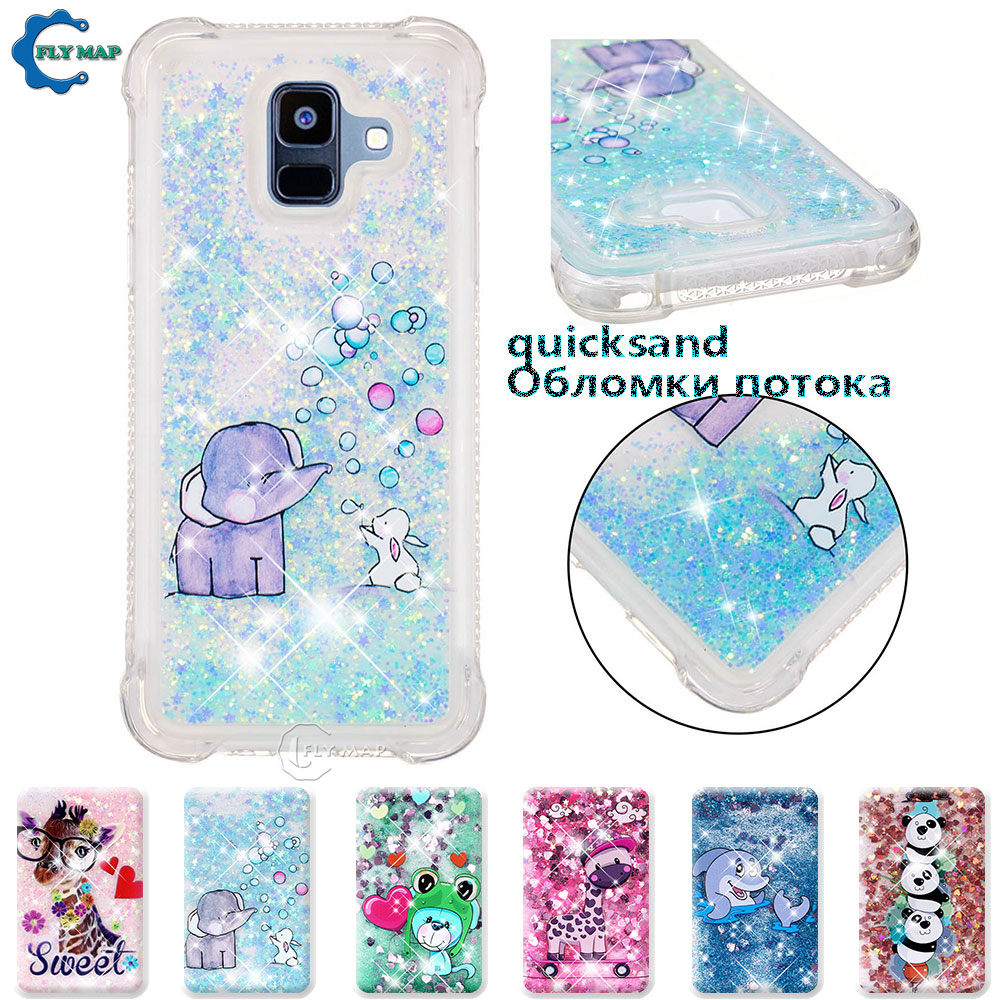 Phone Bags & Cases Fitted Cases Adroit Case For Samsung Galaxy A6 2018 Sm A600 A600fn/ds A600fn Sm-a600fn/ds Sm-a600fn Glitter Stars Dynamic Liquid Quicksand Tpu Case