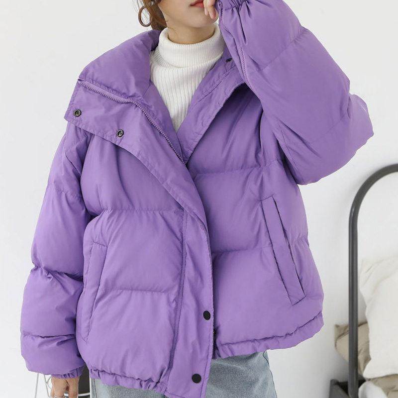 Purple Thicken   Parkas   BF Style Loose Winter Jacket Women Oversized Coats Cotton Padded Jackets Winter Coat Warm Outerwear C5658