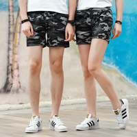 HCXY brand 2018 Summer Lovers Womens Mens Casual Fast drying Sports Home Shorts Male Camouflage Beach Board Shorts 4 cents