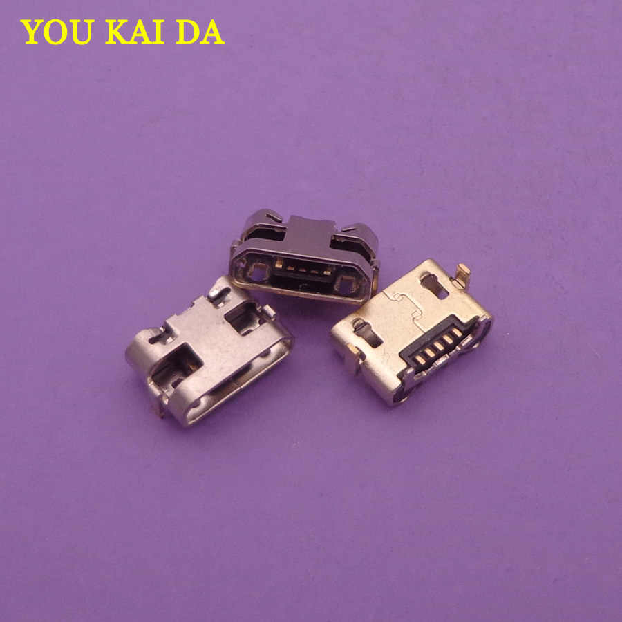 500pcs for Alcatel POP 2 OT-5042 Micro USB jack Charging Socket Port Connector power plug dock 5 pin replacement repair parts