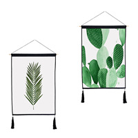 Green Plants Leaf Tapestry Hanging Wall Cloth Tapestry 45 65cm Art Tapisserie Painting Tapestry Boho Home