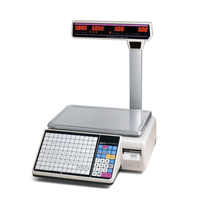 Newest LED Display Barcode Label Weighting Scale with 6000 PLUs and 400 Pictures Storage Capacity for Supermarket Retail Shops