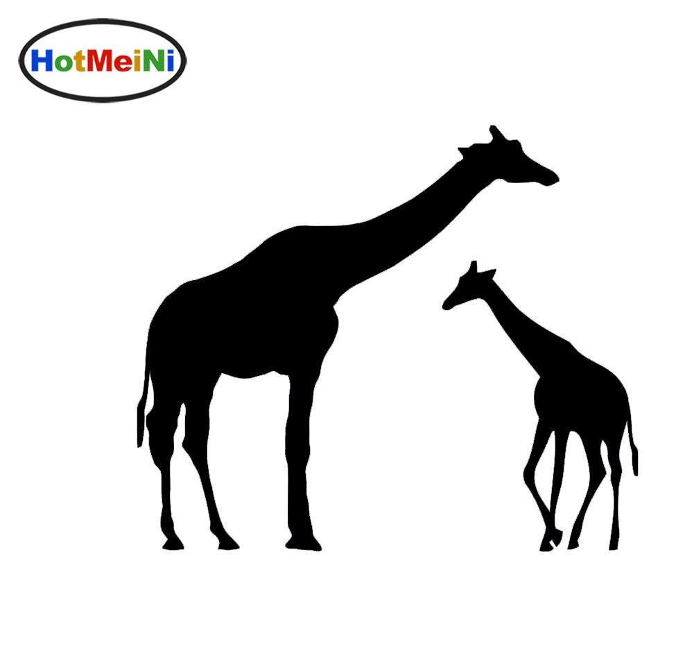 eaea0b252 HotMeiNi novedad encantadora fauna africana profundo afecto Giraffe mamá y  bebé pegatina SUV puerta Laptop Kayak vinilo Decal10 colores