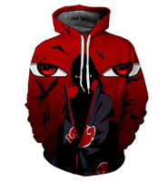 2018 New Brand Large Size 3D Hoodie Naruto Anime Uchiha Itach Men Women Hoodies Sweatshirts 3d