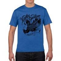 GILDAN T Shirts USA Motorcycle Harley Eagle Indian Vintage Men S Tops Clothes Short Sleeve Heavy
