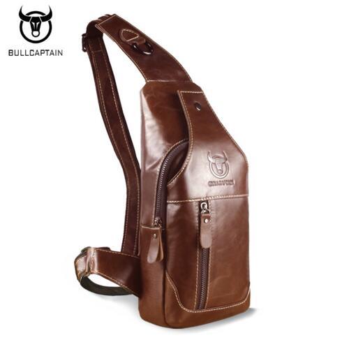 8dbbb5a3ca96 BULL CAPTAIN 2017 Fashion Genuine Leather Crossbody Bags men casual  messenger bag Small Brand Designer Male Shoulder Bag 019