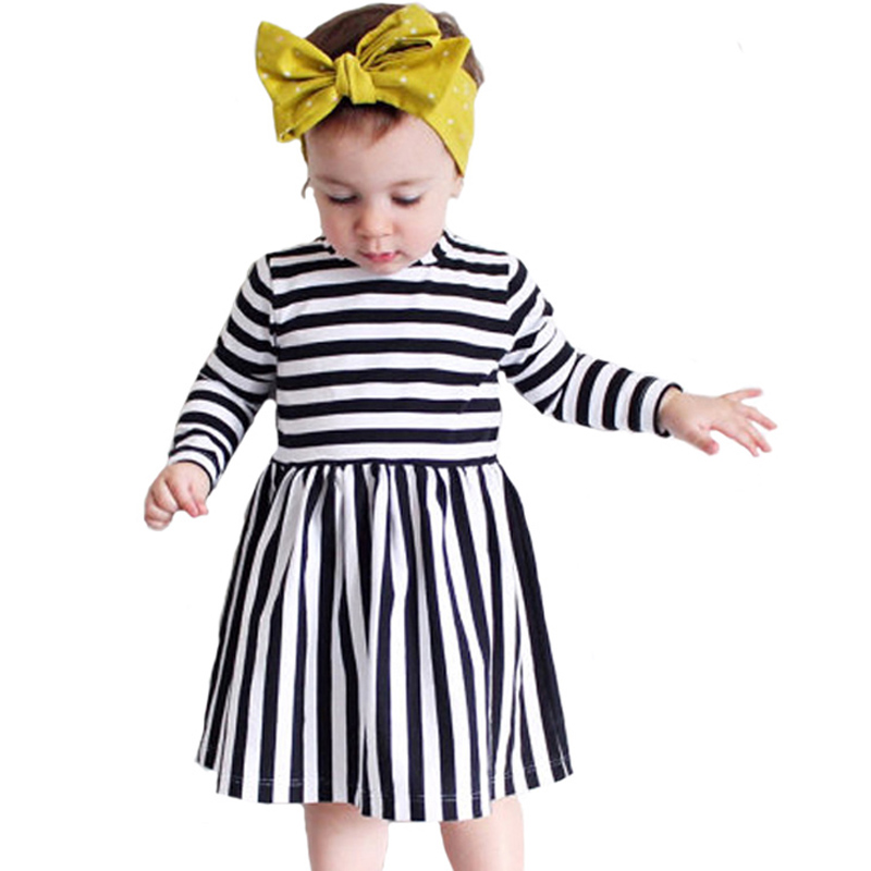 Autumn Toddler Girl Clothes Dresses 2017 Fashion Stripe Style Girls Toddler Clothes Dress Autumn Brand Kids Dress Girl Christmas