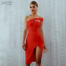 One Shoulder Midi Celebrity Party Dress