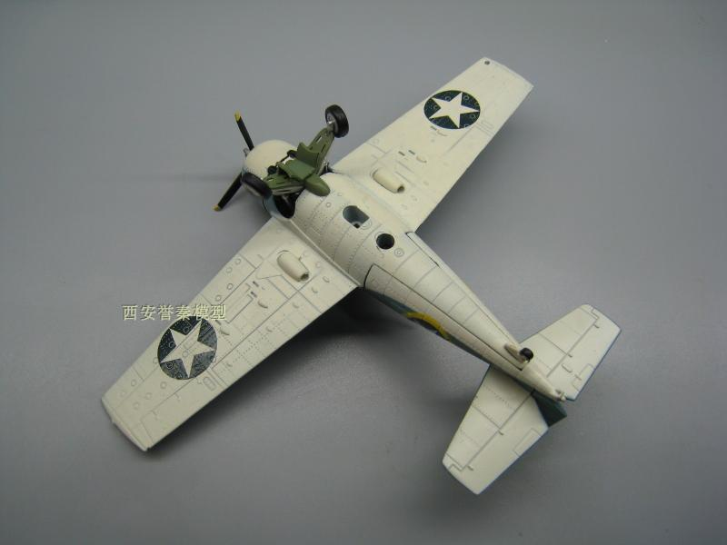 AMER 1/72 Scale Military Model Toys World War II USA F4F-4 Wildcat Fighter Diecast Metal Plane Model Toy For Collection/Gift