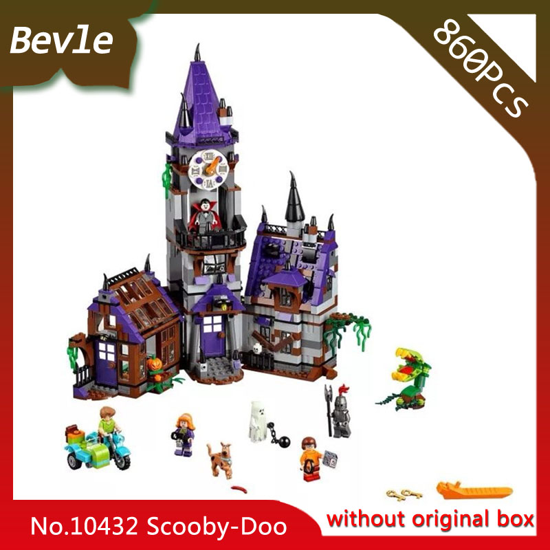 Doinbby Store Bela 10432 860pcs Scooby Doo Series Mystery House Model Building Blocks Set Bricks For Children Toys  75904 ynynoo 305pcs 10430 the mystery machine scooby doo fred shaggy zombie zeke toys building blocks christmas gift sa562