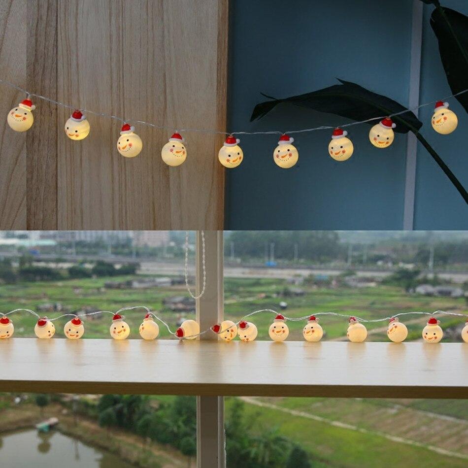 Xmas Lights And Erina Party Shop: Snowman Led String Light/mini Party Light Decorative