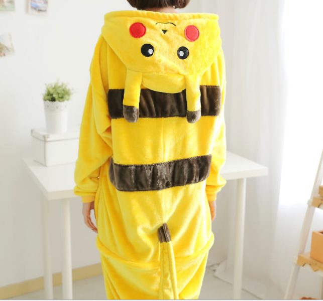 2018 Winter Autumn Onesies Jumpsuit Kigurumi Sleepwear Boby Pajama Lingerie Home Clothe For Men Go Plus Pyjamas Adult Pokemon