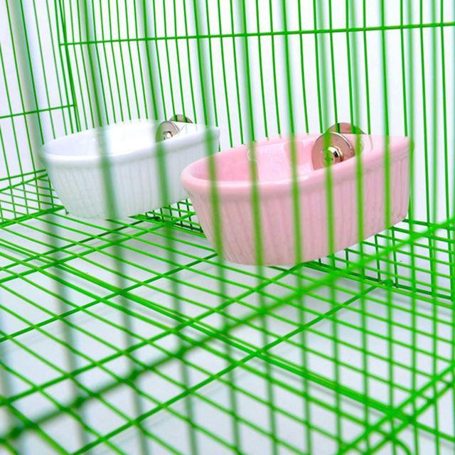 Creative Ceramic Hanging Pet Food Bowl Non-Slip Anti-Turn Hamster Bowl Pet Feeder Bowl For Chinchill Gerbil Pet Feeding Supplies 5