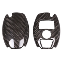 Car Styling Auto Real Carbon Fiber Key Cover Trim Shell Case Fit For Mercedes Benz Accessories|Key Shell|   -