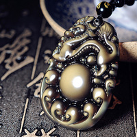Alris Chicken Years Ice Color Pichugin Brave Men And Women Diy Real Stone Obsidian Jewelry