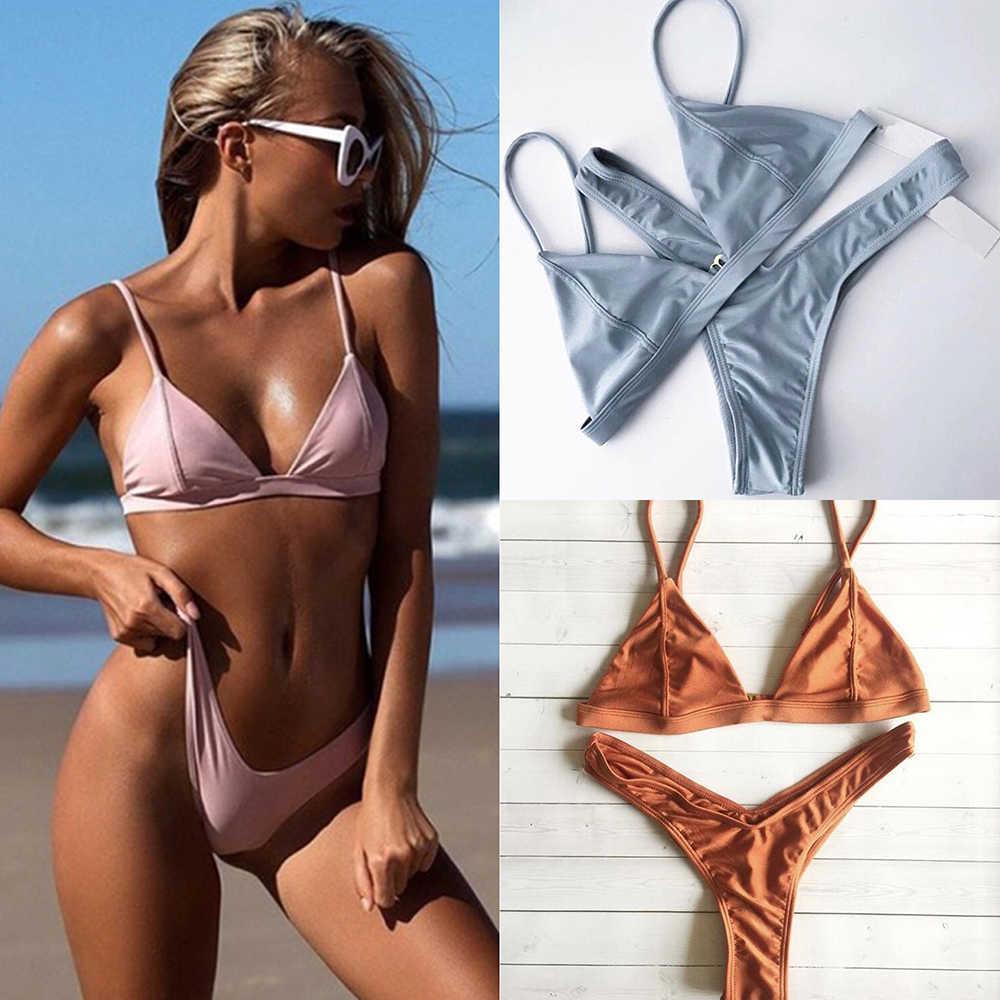 32c105c6e ZTVitality Swimwear Women Sexy Push Up Bikini 2019 Hot Sale Beach Padded  Straps Triangle Thong Swimsuit
