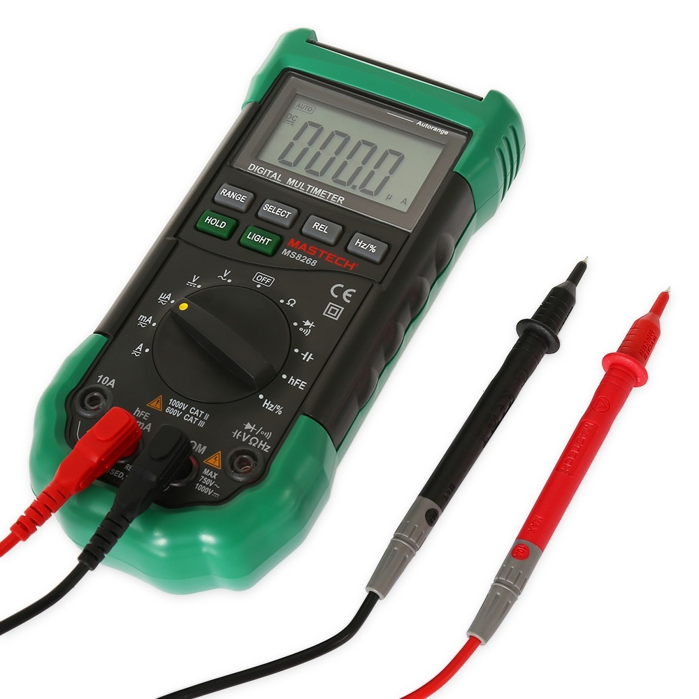Digital Electrical Tester : Mastech ms digital multimeter auto range protection ac