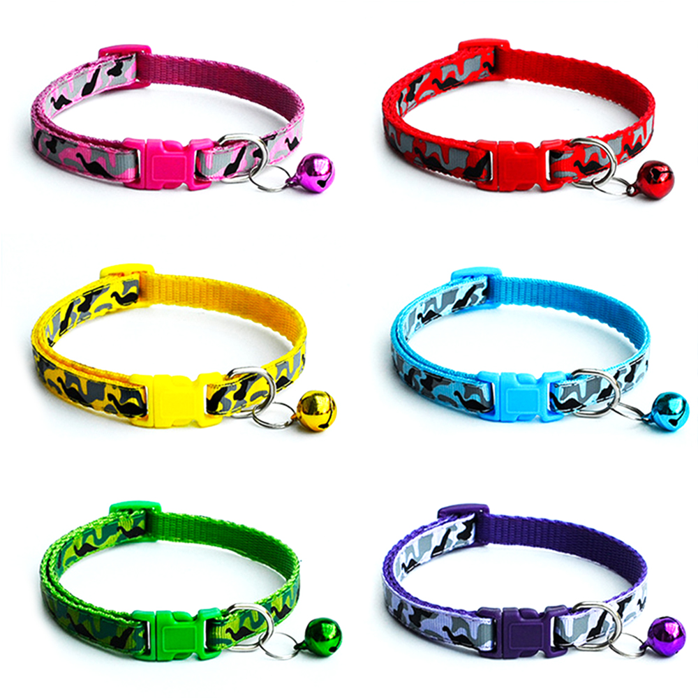 5 Cat Collar Breakaway Collar For Cats With Bell Cat Collars Adjustable Quick Release Puppy Collar Chihuahua Cat Leash Pet Product (8)