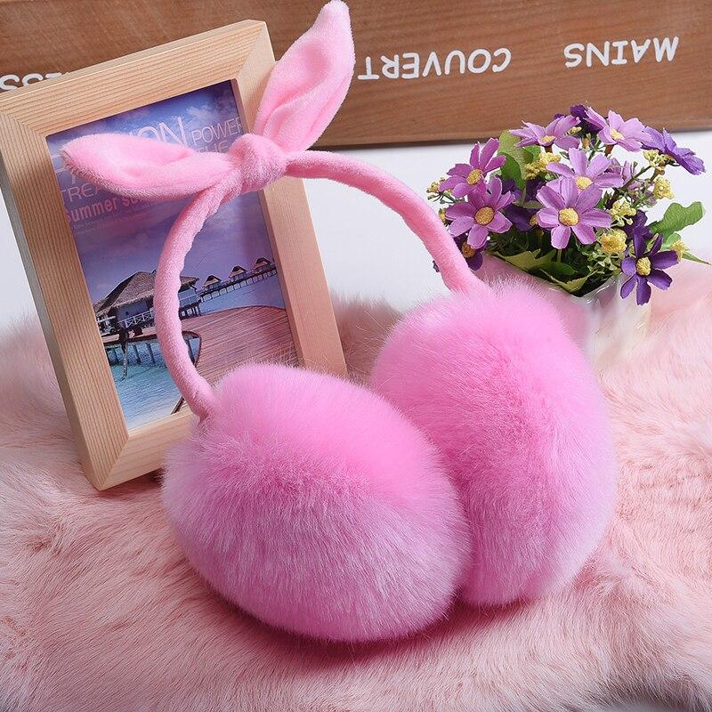 Hot Cute Bowknot Rabbit Ears Earmuffs
