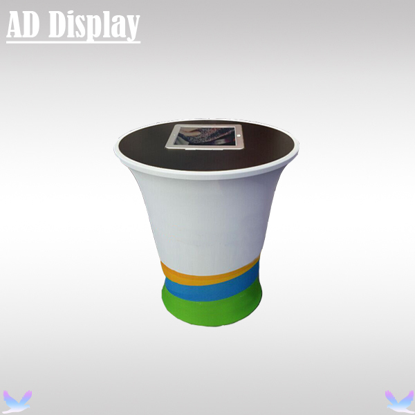 Portable Exhibition Display : Mini ipad advertising stretch fabric podium display stand with