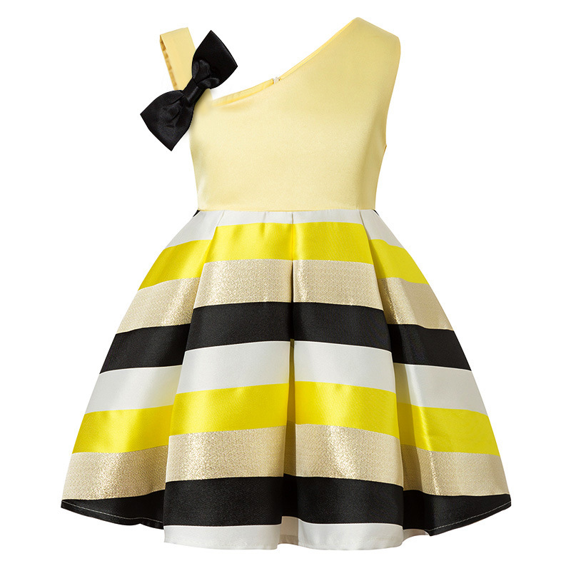 Girls Wedding Dress 2018 Cotton Summer Striped Dresses For baby girl Clothes Vestidos Birthday Costumes Frocks 2 4 6 8 10 Years