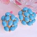 Azul turquesa Brincos para mulheres presentes branco opalas Artificial Coral Material de brinco de Brincos Pendientes