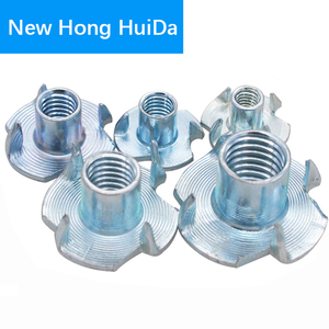 Image 4 - M3 M4 M5 M6 M8 M10 Zinc Plated Four Claws Metric Nut Speaker Nut T nut Blind Pronged Tee Nut Furniture Hardware