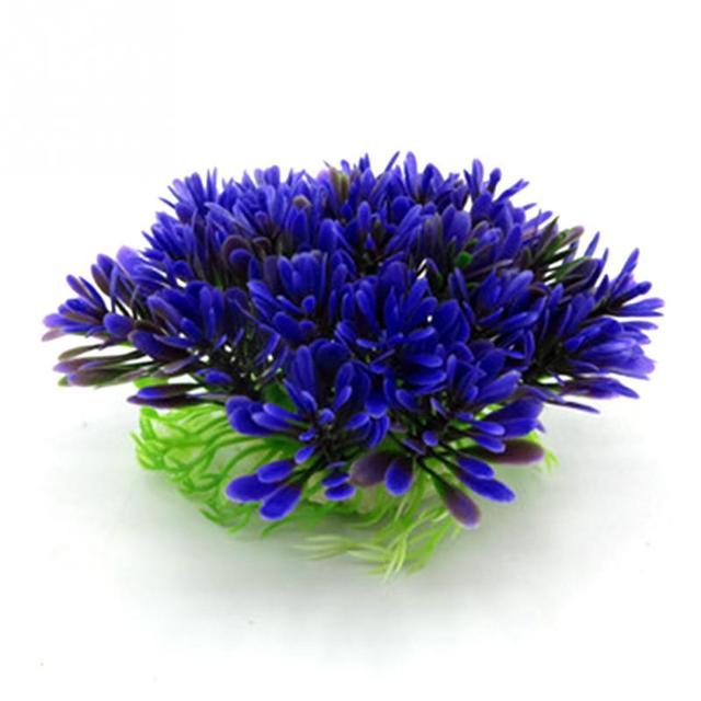 Новое поступление фиолетовое искусственное пластиковое растение подводная водная Трава Аквариум Украшение Цветок Трава лужайка