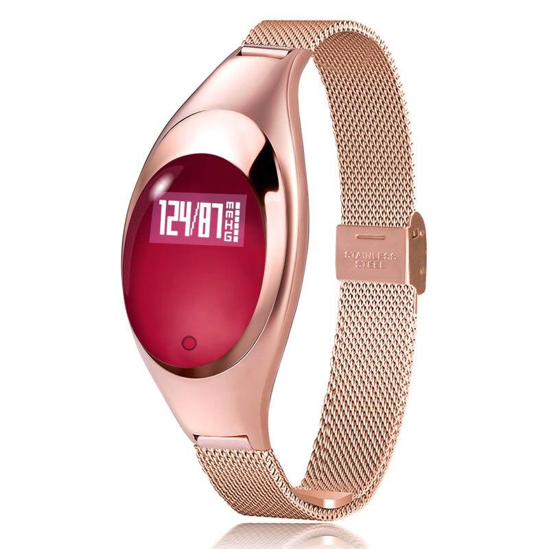 Montre intelligente femmes bracelet montres intelligentes avec pression artérielle moniteur de fréquence cardiaque podomètre Tracker de Fitness pour Android IOS mujer