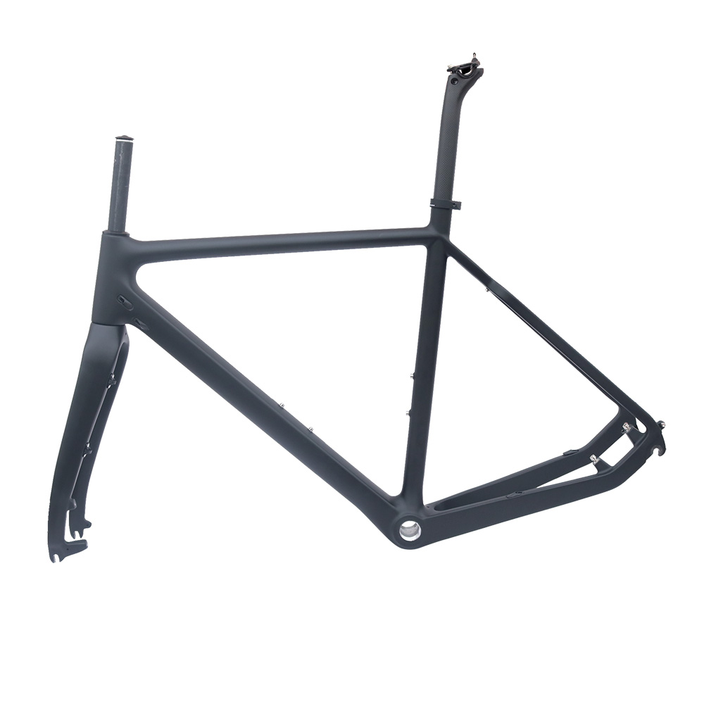 Cyclo-Cross carbon bike frame matt black 51/53/55cm BSA road disc bicycle frame