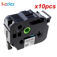 Kodex 10pcs/lot TZe 251 label tape compatible Brother P touch tape 24mm TZe 251 TZ 251 Black on White Printer Ribbons