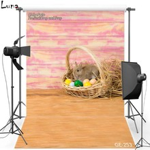 Happy Easter Vinyl Photography Background Backdrop For Newborn Rabbit New Fabric Flannel Backdrop For Baby photo studio 253