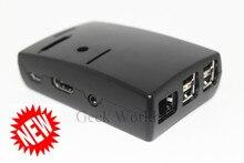 Raspberry Pi Model B Plus & Raspberry Pi 2 &3 Black Case Cover ABS box with 3pcs Aluminum Heatsinks DIY free shipping 5pcs/lot