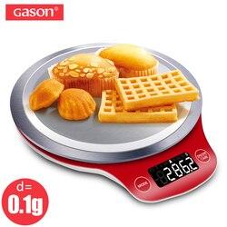 GASON C4 LCD waga kuchenna cyfrowy Gram Metal elektroniczny dokładny balans Mini gotowanie żywności narzędzia pomiarowe paleta żywności 5000g w Wagi kuchenne od Dom i ogród na