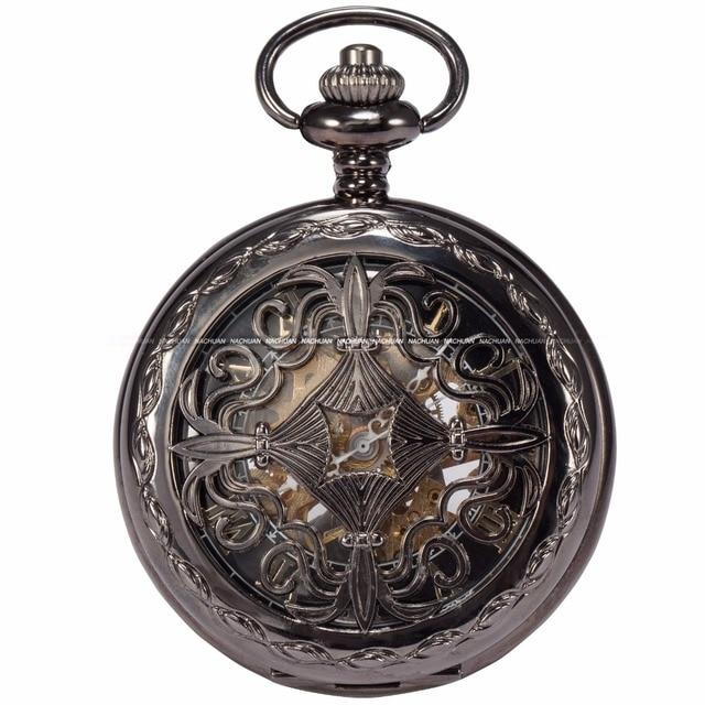 KS Steampunk Skeleton Male Clock Mechanical Hand Winding Classic Copper Retro Nu